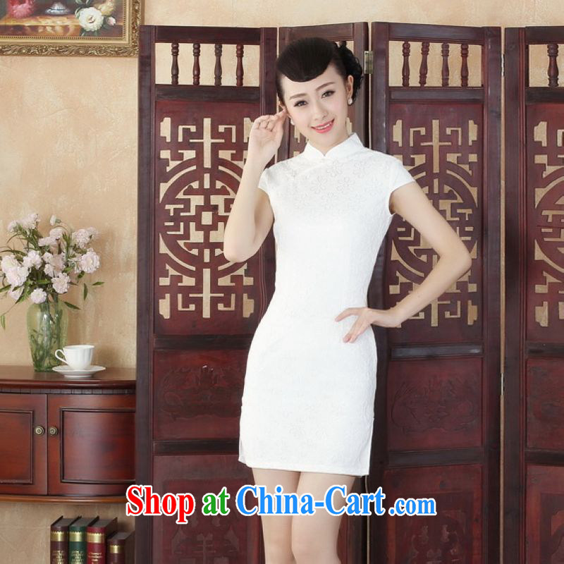 Floor is floor Lady Jane, Jacob stylish improved cultivation lace short cheongsam dress new Chinese qipao gown D M 0255