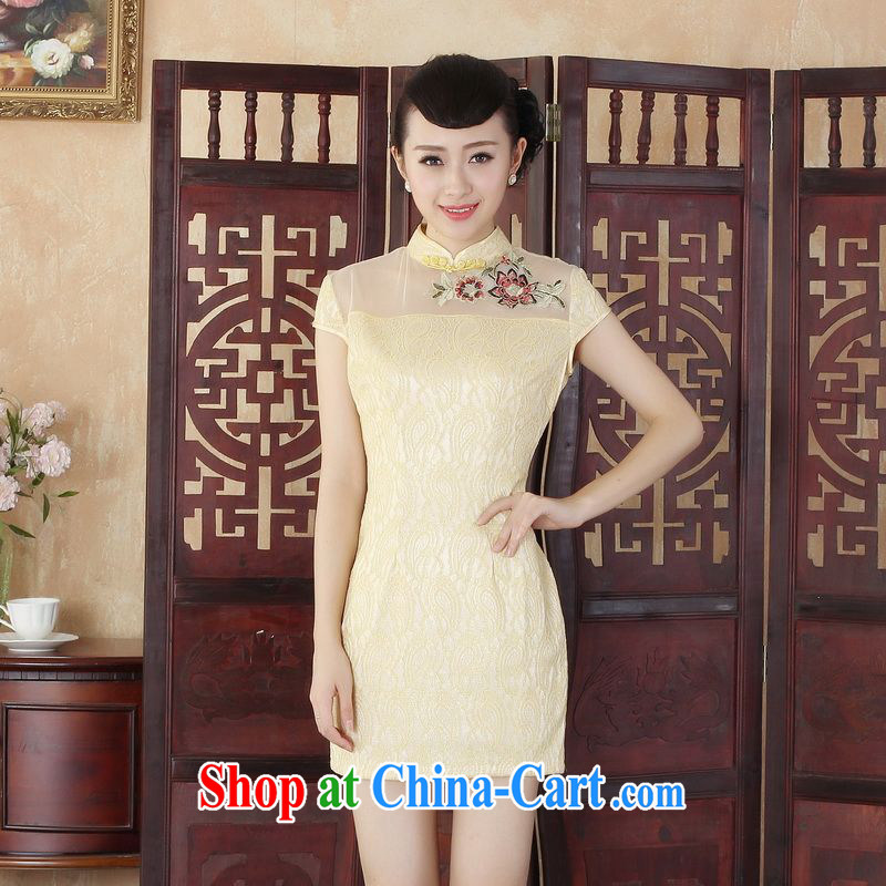 Floor is floor Lady Jane, Jacob stylish improved cultivation lace short cheongsam dress new Chinese Chinese Dress D S 0254