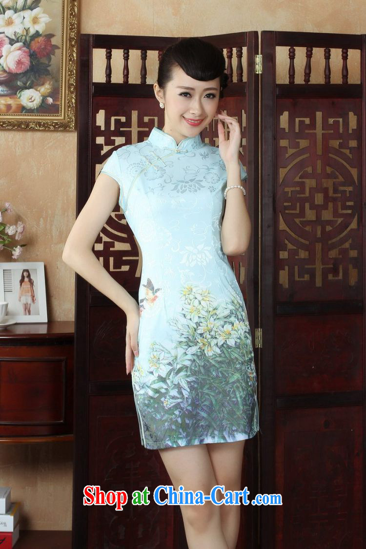Yet, Ms. floor dress Chinese cheongsam beauty enhancement stamp Chinese qipao gown picture color 2 XL pictures, price, brand platters! Elections are good character, the national distribution, so why buy now enjoy more preferential! Health