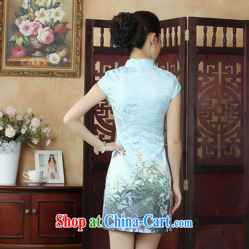 Property is property, dress Chinese cheongsam beauty enhancement stamp Chinese qipao gown picture color 2 XL, property is still property, shopping on the Internet