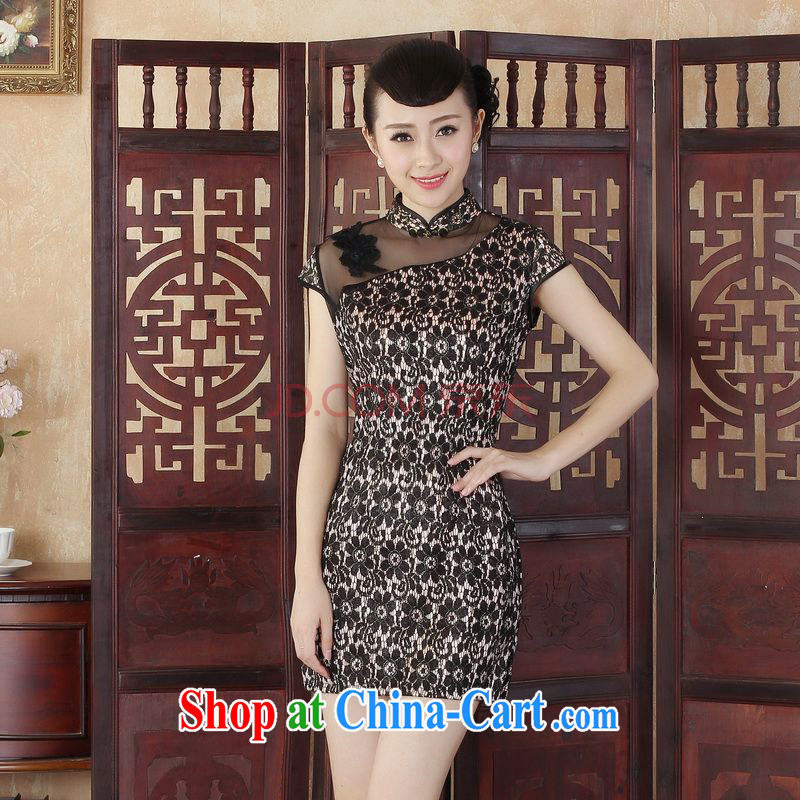 For Pont Sond¨¦ Diana Lady Jane, stylish and refined beauty lace short cheongsam dress new Chinese qipao gown picture color XXL