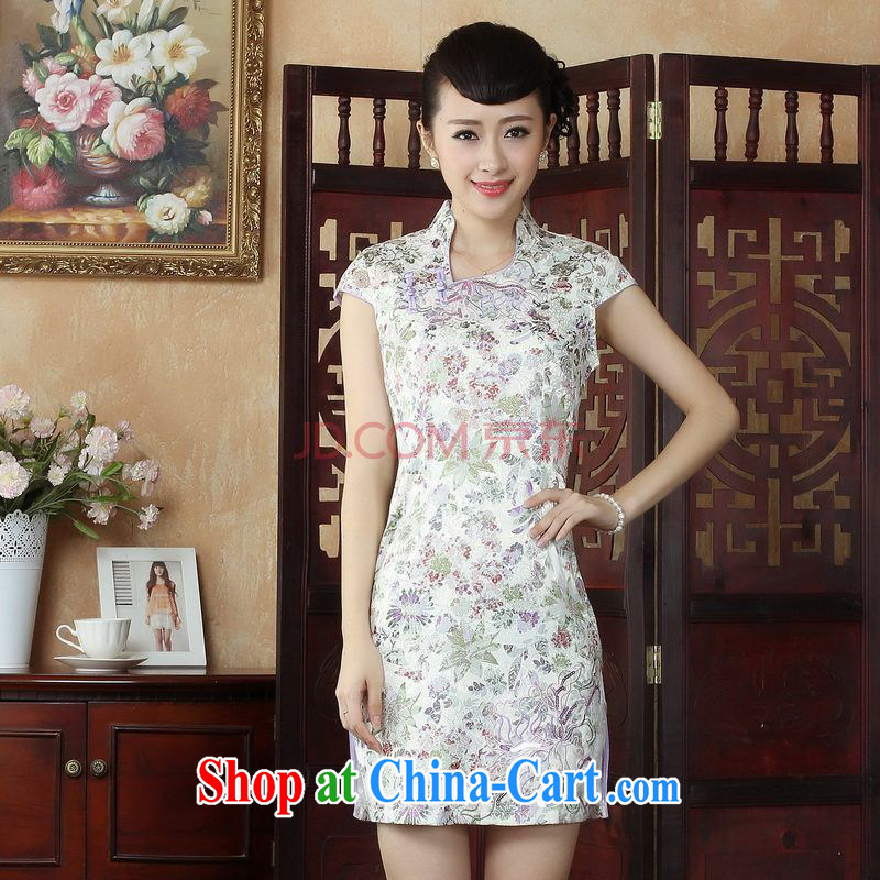 For Pont Sond¨¦ Ms. Diana dress Chinese cheongsam summer improved cultivating embroidered Chinese qipao gown picture color XXL
