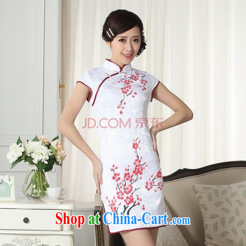 Nigeria, the Summer new dresses women's clothing stylish elegance Chinese qipao hand painted dresses D XXL 0092