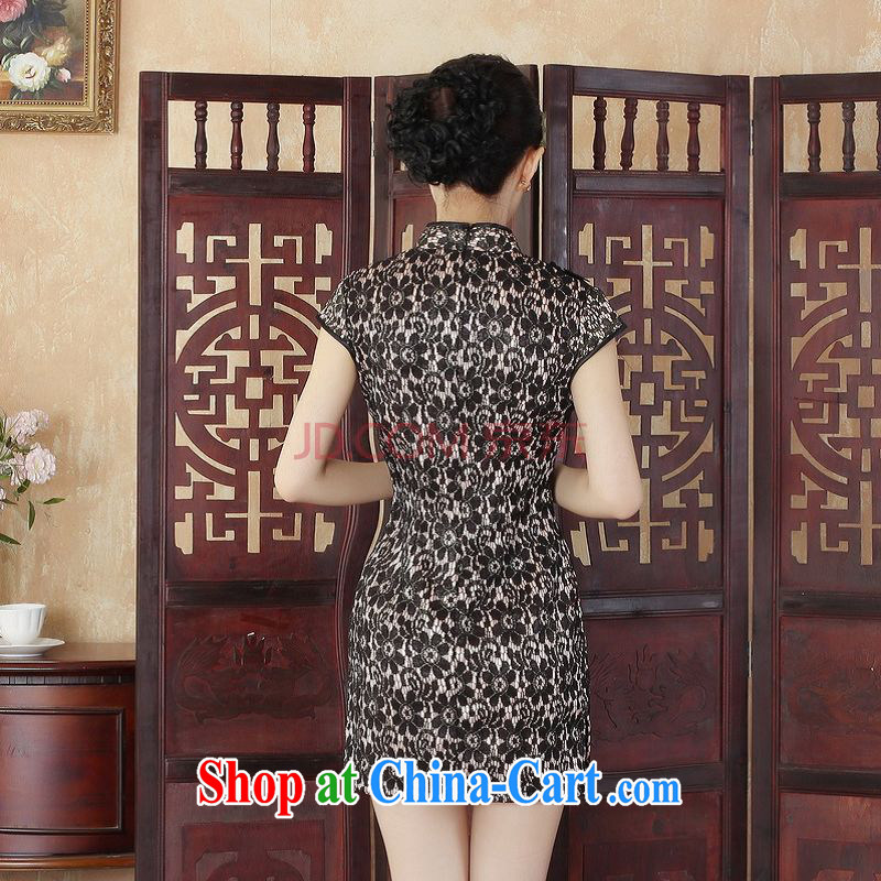 Nigeria, the lady Jane, stylish and refined beauty lace short cheongsam dress new Chinese qipao gown picture color XXL, Nigeria, and shopping on the Internet