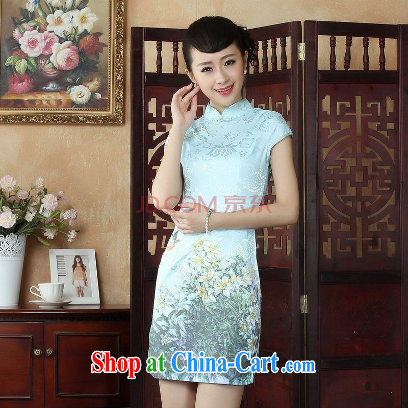 Nigeria, following her dress Chinese cheongsam beauty enhancement stamp Chinese qipao gown picture color XXL
