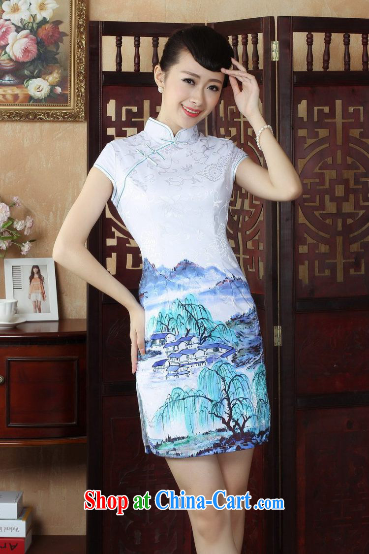 Nigeria, following her dress cheongsam Chinese qipao improved skirt Chinese short Ethnic Wind dress dresses picture color XXL pictures, price, brand platters! Elections are good character, the national distribution, so why buy now enjoy more preferential! Health
