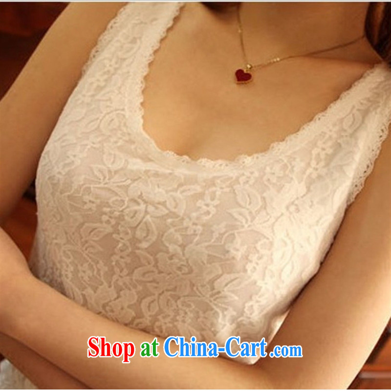 Ya-ting store 2015 summer new Korean female lace straps vests the beauty, solid shirts female white 2 XL