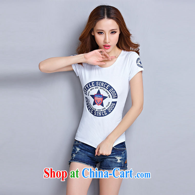 Ya-ting store 2015 summer new female round-collar short-sleeve T-shirts solid shirt Korean Beauty graphics thin beauty short-sleeved T �� T-shirt yellow 2 XL