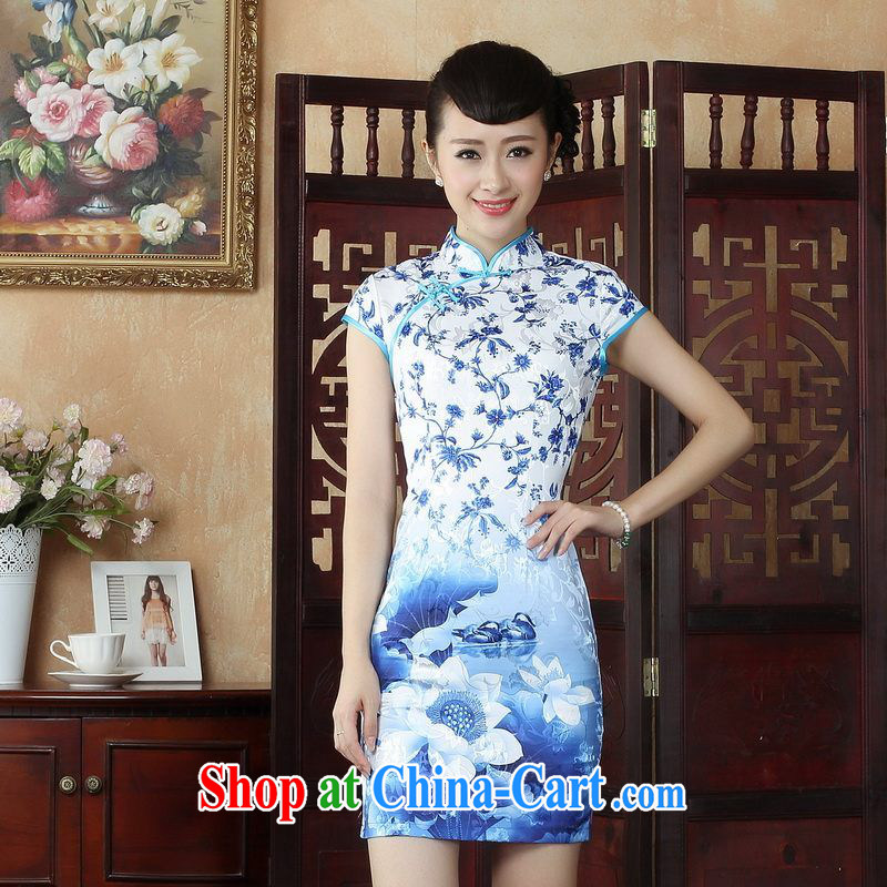 Property is still property, Ms. Tang replace cheongsam dress improved beauty antique Chinese cheongsam dress picture color 2 XL