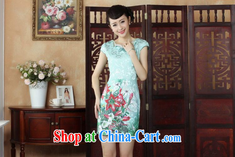 Property is still property, Ms. Tang cheongsam dress with dress summer improved national wind antique stamp cheongsam dress dress picture color XL pictures, price, brand platters! Elections are good character, the national distribution, so why buy now enjoy more preferential! Health