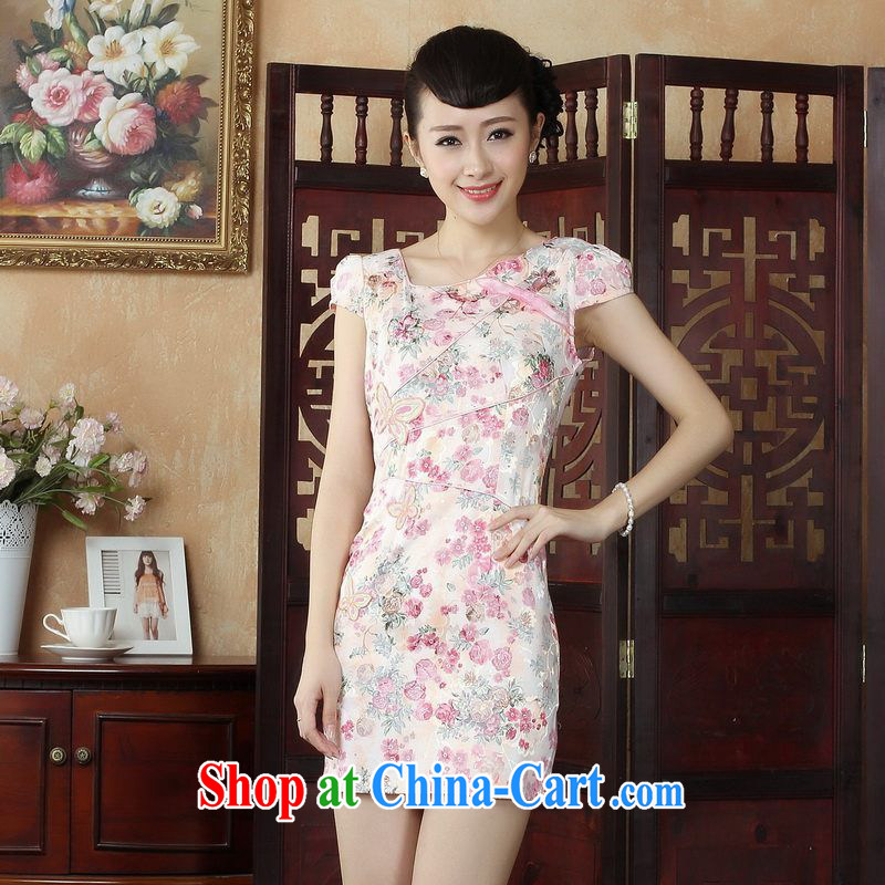 Floor is floor Lady Jane, his house improved qipao cheongsam dress decorated in summer, dresses picture color 2 XL