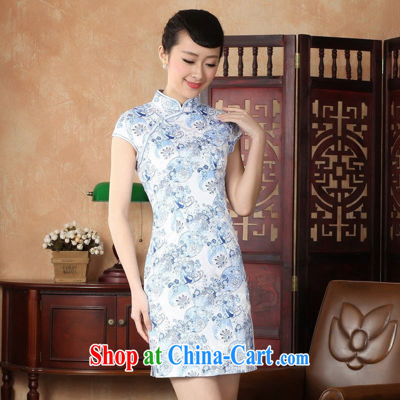 Property is still property, Ms. Tang cheongsam dress with dress improved summer dresses up for a hard stamp dress D 0229 - A 2 XL