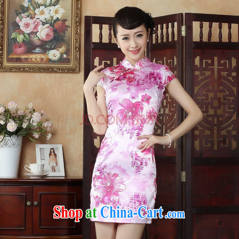 Nigeria, the cheongsam Chinese dresses improved summer dresses, for the stamp duty ends dress picture color XXL