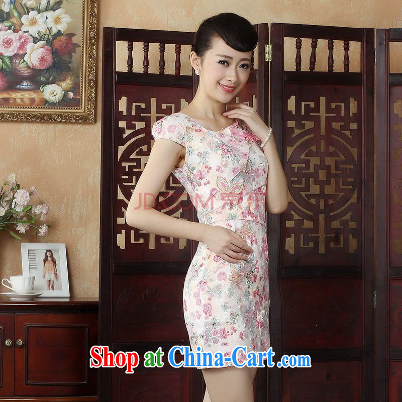 Nigeria, the lady Jane, his house improved qipao cheongsam dress decorated in summer, dresses picture color XXL