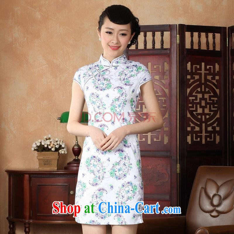 Nigeria, the cheongsam Chinese dresses improved summer dresses, for the stamp duty ends dress D XXL 0229