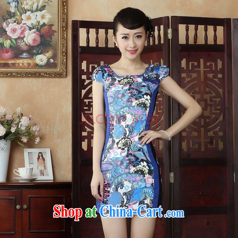 For Pont Sondé Ms. Diane cheongsam Chinese dresses Chinese wind stylish improved cheongsam dress dress picture color XXL