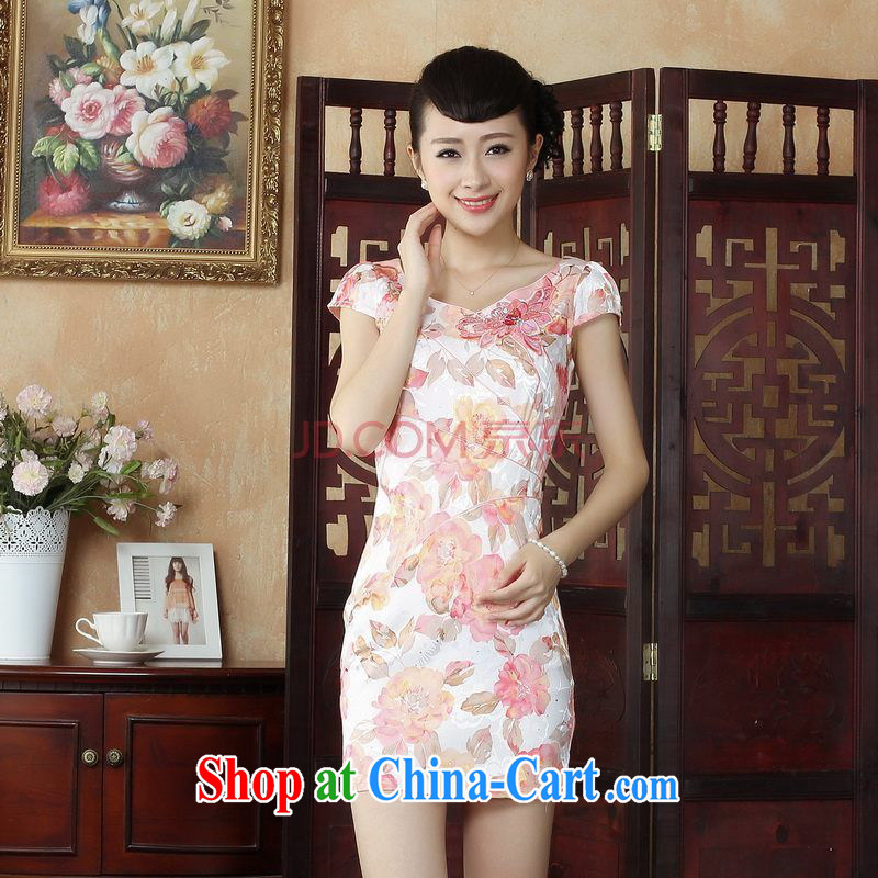 For Pont Sondé Diana Lady Jane, Tang with improved qipao cheongsam dress summer elegant and stylish beauty dresses picture color XXL