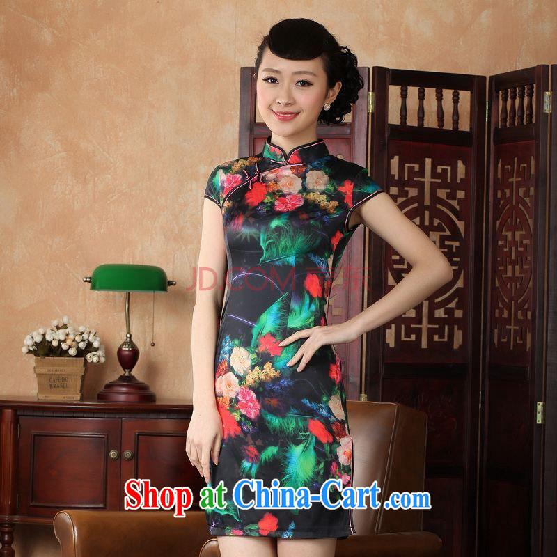 For Pont Sond� Ms. Diane Tang cheongsam dress summer improved national wind antique stamp cheongsam dress dress D 0231 - A XXL