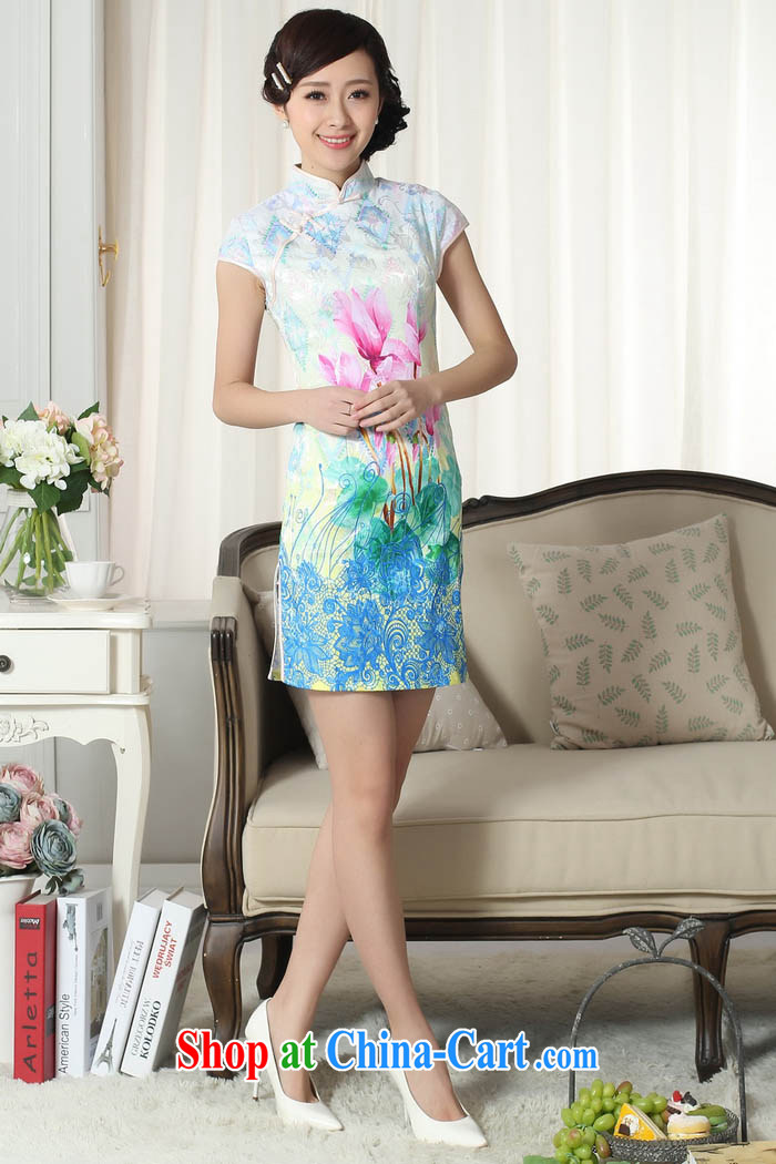 Ko Yo vines into colorful 2015 summer style and comfort Chinese cheongsam dress low the forklift truck retro short cheongsam Chinese graphics thin short cheongsam D 0279 0290 D XXL pictures, price, brand platters! Elections are good character, the national distribution, so why buy now enjoy more preferential! Health