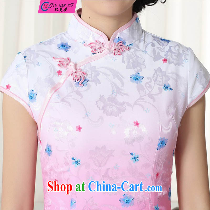 Ko Yo vines into colorful 2015 summer style and comfort Chinese cheongsam dress low on the truck retro short cheongsam Chinese graphics thin short cheongsam D D 0279 0290 XXL, capital city sprawl, shopping on the Internet