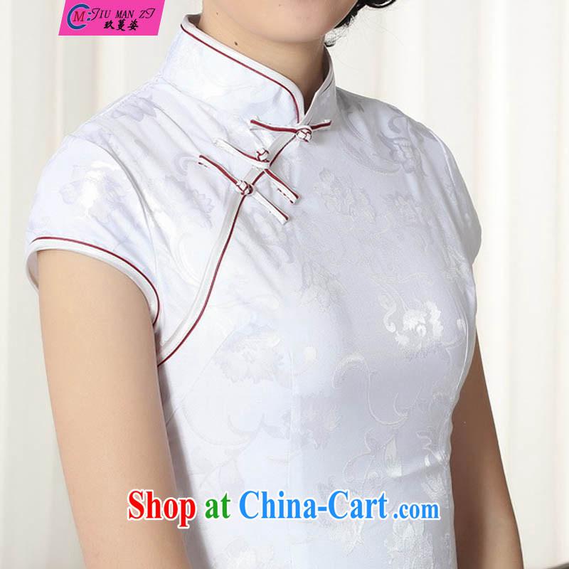 Ko Yo Mephidross colorful lady stylish jacquard cotton short cheongsam dress 2015 ladies China wind graphics thin short cheongsam Chinese qipao gown D 028 0287 D XXL, capital city sprawl, shopping on the Internet
