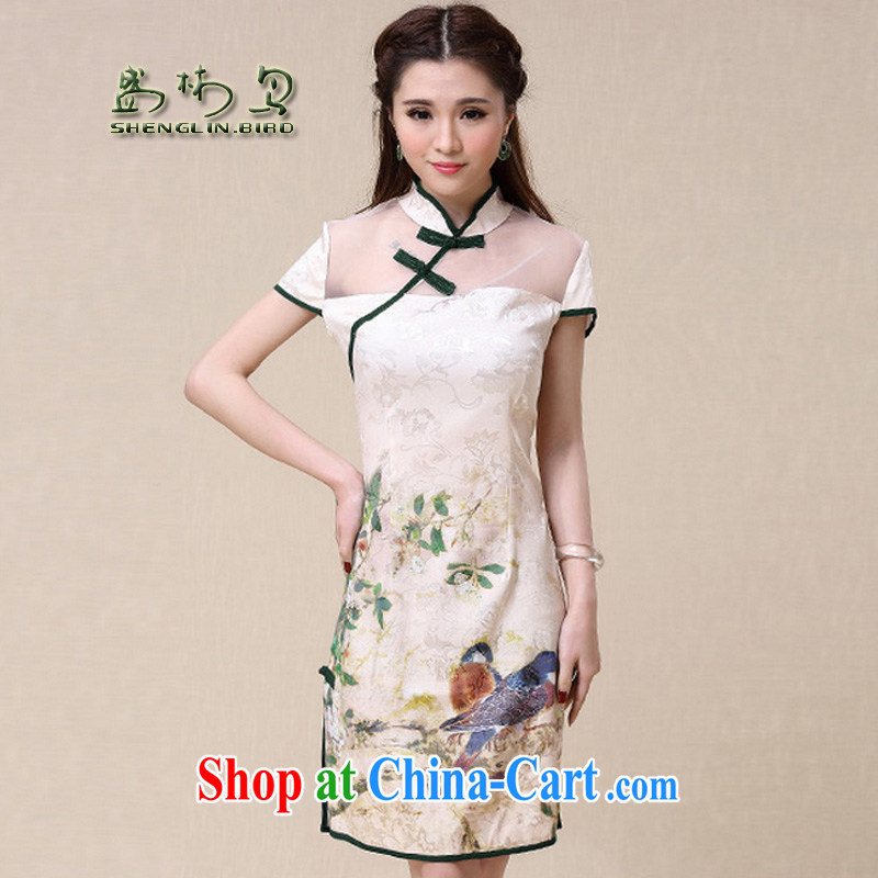 Mr Ronald ARCULLI is new, China wind National wind cultivating high-end elegant qipao stamp duty female sung lim bird 2015 the payment package mail Picture Color XXL