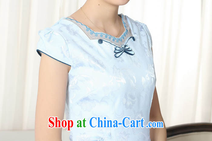 Ko Yo Mephidross colorful retro improved version cultivating graphics thin short cheongsam 2015 Chinese qipao short sleeve spring blue elegant short cheongsam D D 030 0301 XXL pictures, price, brand platters! Elections are good character, the national distribution, so why buy now enjoy more preferential! Health