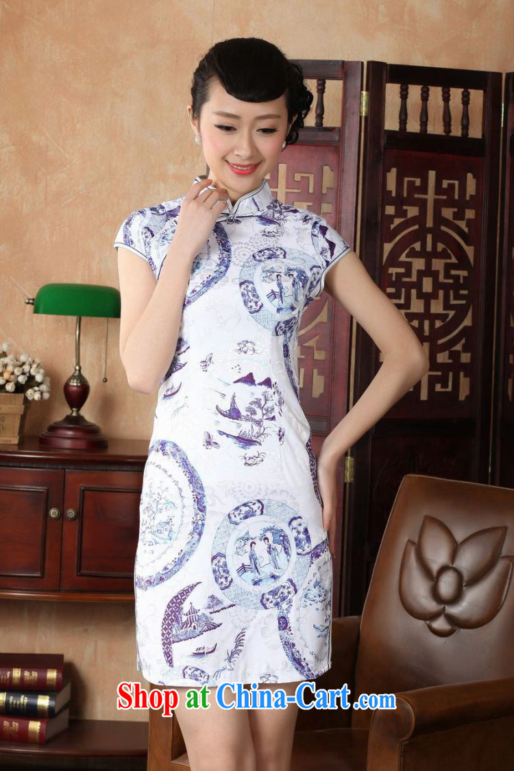 Floor is floor Lady Jane, Tang with improved qipao cheongsam dress summer elegant and stylish beauty dresses picture color 2 XL pictures, price, brand platters! Elections are good character, the national distribution, so why buy now enjoy more preferential! Health