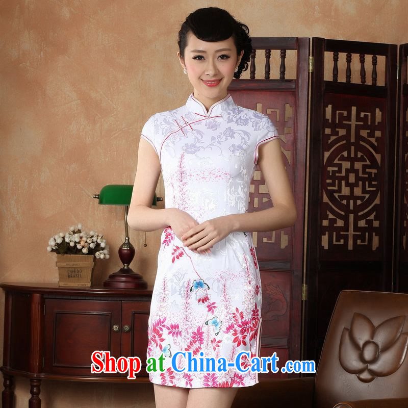 Yet, Ms. building new summer elegance Chinese qipao Chinese graphics thin short cheongsam D S 0222