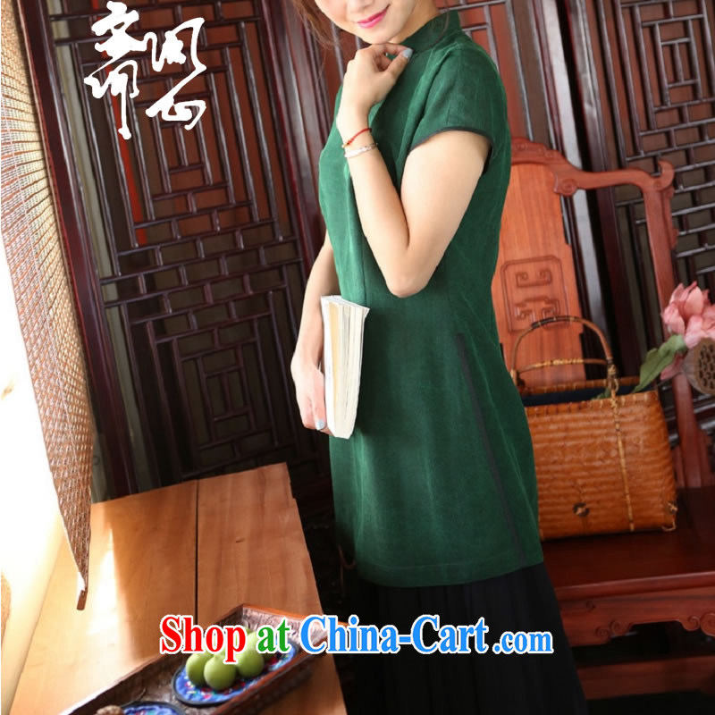 Asked about Ramadan and the Hyatt heart health female new summer, the charge-back package Hong Kong cloud yarn T-shirt warm-hearted elegance hand-buckle Yi 1909 green manual customization,