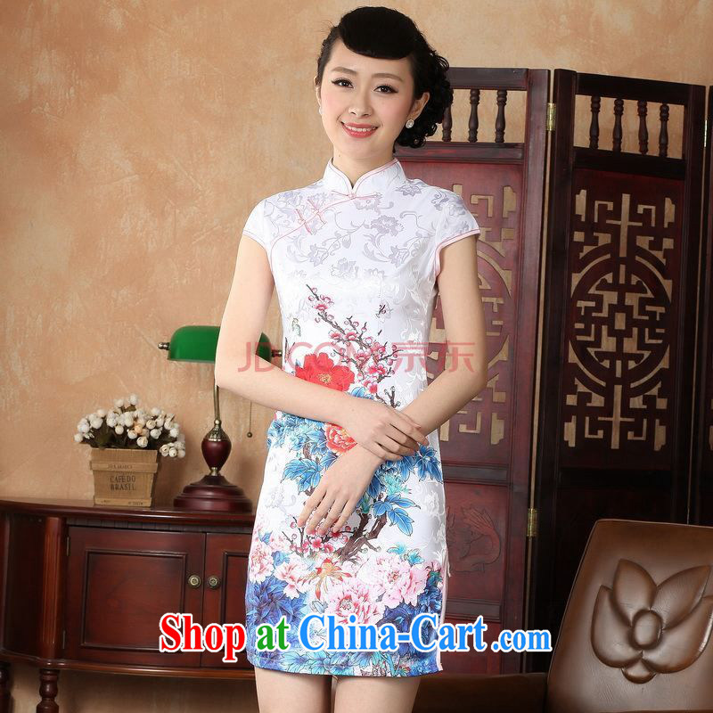 Nigeria, the cheongsam dress, Ms. Tang fitted dresses improved national wind antique stamp duty cheongsam dress dress D XXL 0228