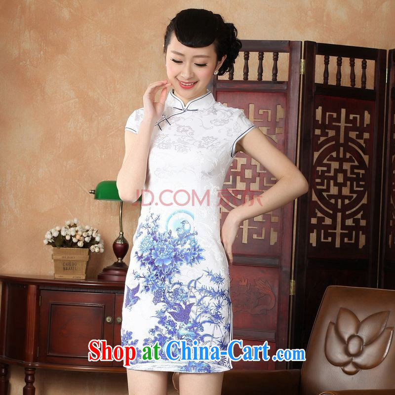 For Pont Sond� Ms. Diane cheongsam Chinese dresses improved national wind antique stamp cheongsam dress dress D 0228 - A XXL
