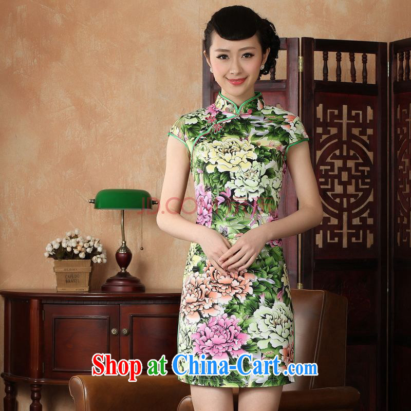 For Pont Sond� Diane summer new, elegance, short Chinese qipao new Chinese improved cheongsam dress D 0221 - A XXL