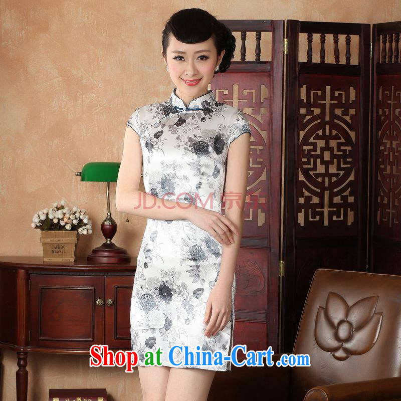 For Pont Sondé Ms. Diane cheongsam Chinese dresses improved national wind antique paintings dress cheongsam dress picture color XXL