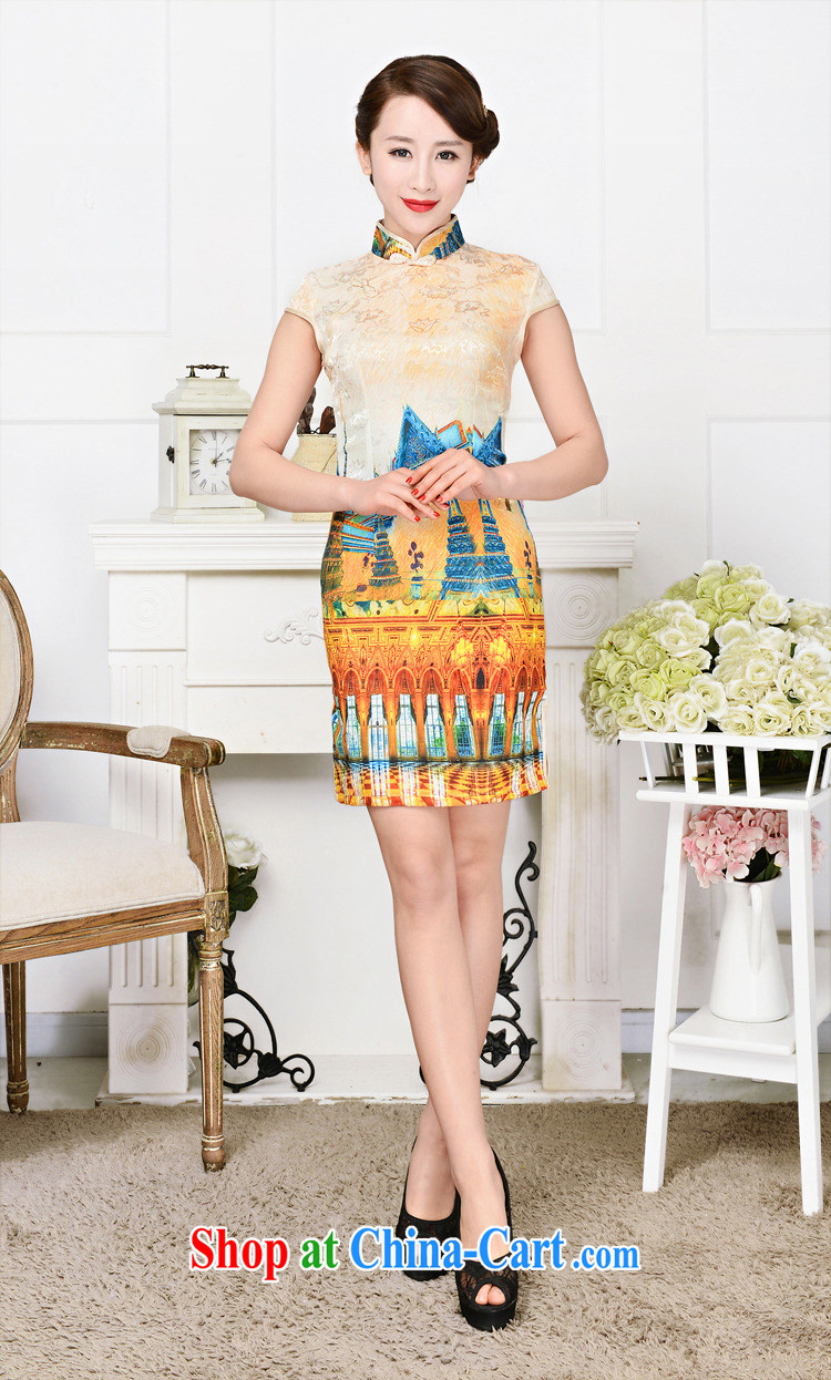 2015 spring and summer new retro elegant qipao Korea jacquard silk cotton daily fashion improved cheongsam 1589 White Palace figure XXL pictures, price, brand platters! Elections are good character, the national distribution, so why buy now enjoy more preferential! Health