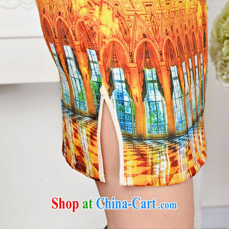 2015 spring and summer new retro elegant qipao Korea jacquard silk cotton daily fashion improved cheongsam 1589 White Palace figure XXL, ballet of Asia and cruise (BALIZHIYI), online shopping