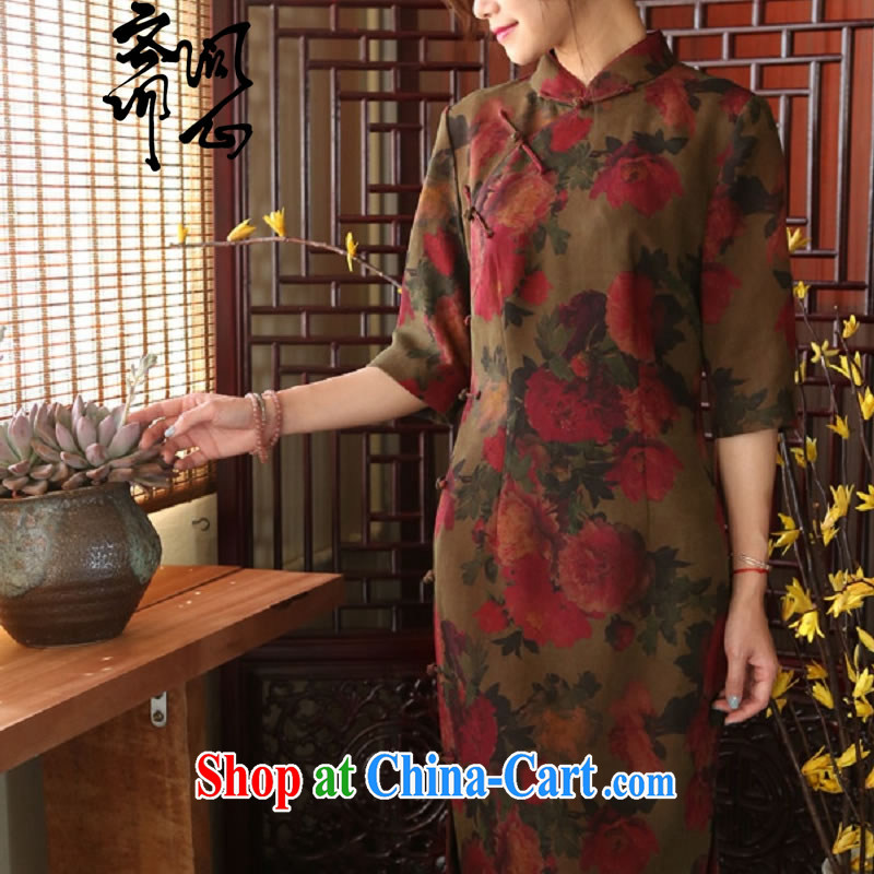 Asked about heart Id al-Fitr (Yue heart health female new summer, fragrant cloud by withholding the cheongsam Chinese, dresses for 1916 photo color manual customization,