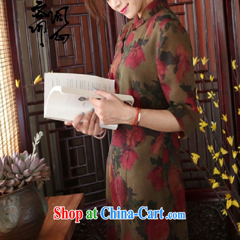 q heart Id al-Fitr (Yue heart health female new summer, fragrant cloud yarn-tie outfit, Chinese qipao for 1916 photo color manual customization, and asked a vegetarian, shopping on the Internet
