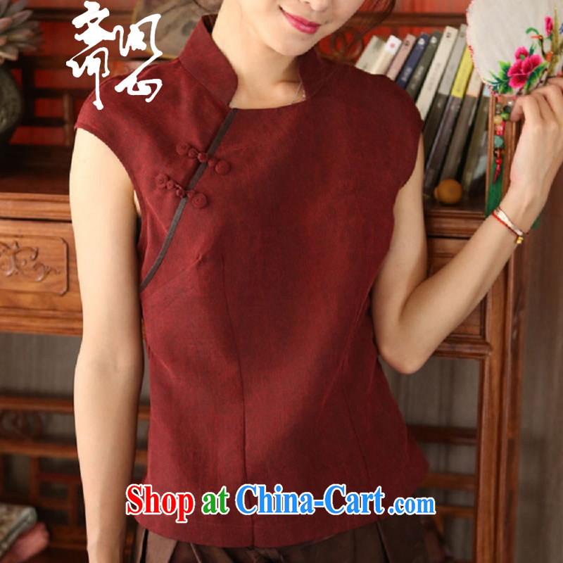 Asked about Ramadan and the Hyatt Regency heart health female summer new Chinese improvement is estimated by t-shirt warm-hearted-tie classic T-shirt 1919 wine red manual customization,