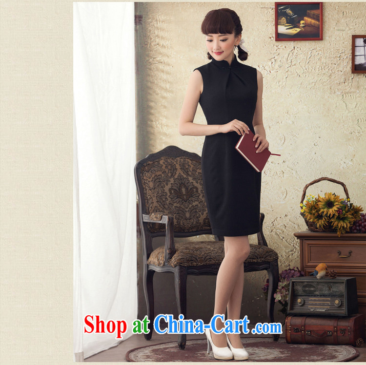 once and for all the proverbial hero sponsors 2015 spring and summer retro Ethnic Wind up collar dresses summer arts the knee long skirt black 2 XL pictures, price, brand platters! Elections are good character, the national distribution, so why buy now enjoy more preferential! Health