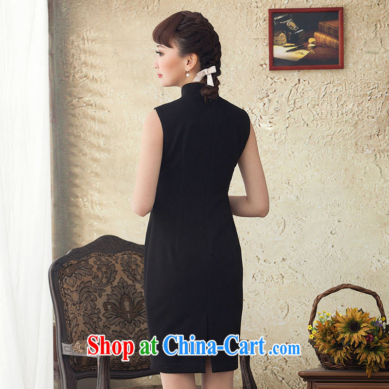 once and for all the proverbial hero sponsors 2015 spring and summer retro Ethnic Wind up collar dresses summer arts the knee long skirt black 2 XL, fatally jealous once and for all, and, on-line shopping