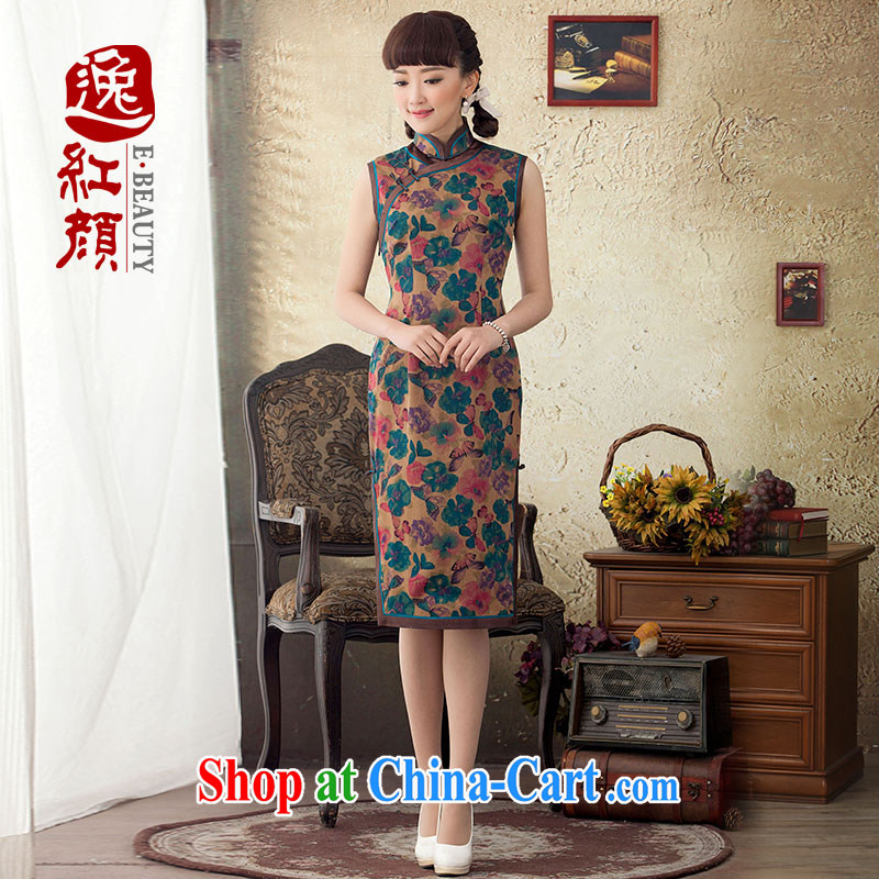 once and for all and proverbial hero, Joseph long, silk cheongsam dress stamp duty improved 2015 new spring and summer retro cheongsam dress suit L