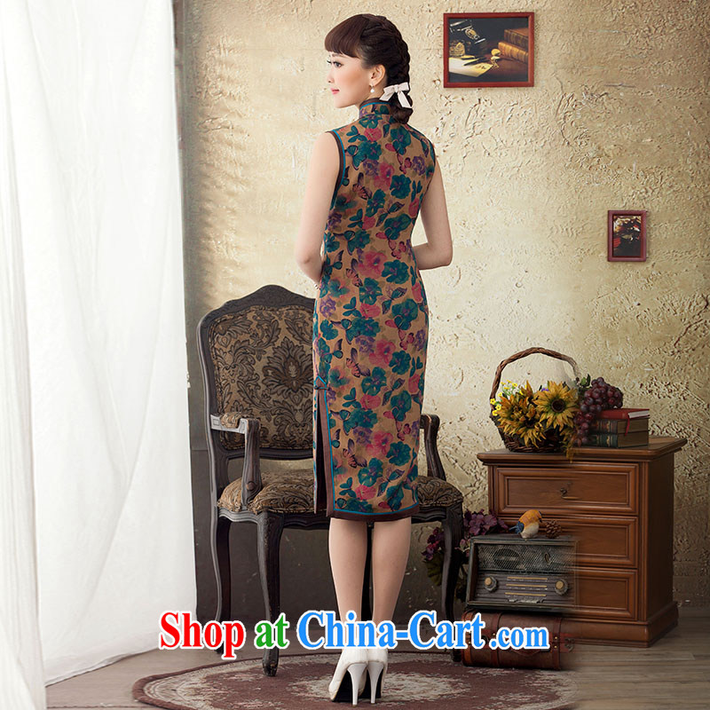 once and for all and proverbial hero, Joseph long, silk cheongsam dress stamp duty improved 2015 new spring and summer retro cheongsam dress suit L, fatally jealous once and for all, and, on-line shopping