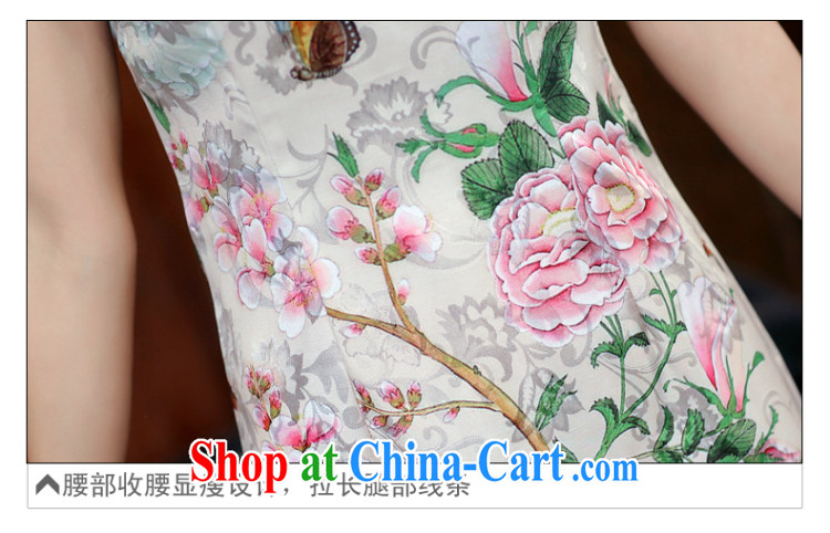The Diane poetry 2015 new summer fine white Peony jacquard ice silk and cotton robes temperament female dresses 982 Dan Feng cited butterfly XXL pictures, price, brand platters! Elections are good character, the national distribution, so why buy now enjoy more preferential! Health