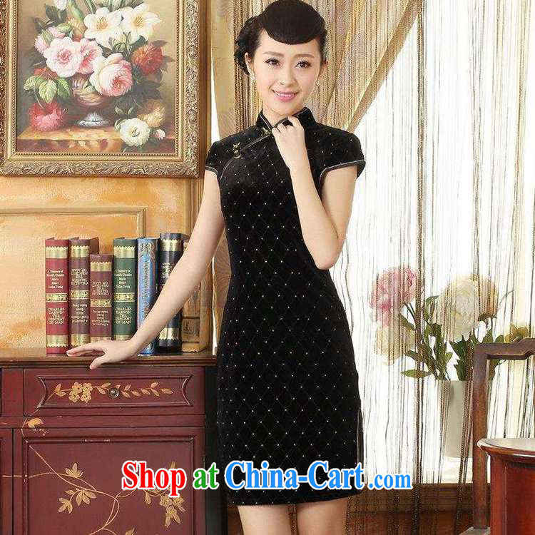 According to fuser stylish new ladies retro improved Chinese qipao, for a tight Classic beauty for short Chinese qipao dress LGD/TD 0044 #black 2 XL pictures, price, brand platters! Elections are good character, the national distribution, so why buy now enjoy more preferential! Health