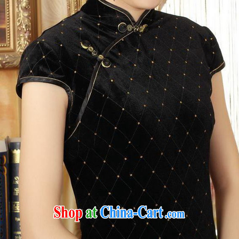 According to fuser stylish new ladies retro improved Chinese qipao, for a tight Classic beauty for short Chinese qipao dress LGD/TD 0044 #black 2 XL, according to fuser, shopping on the Internet