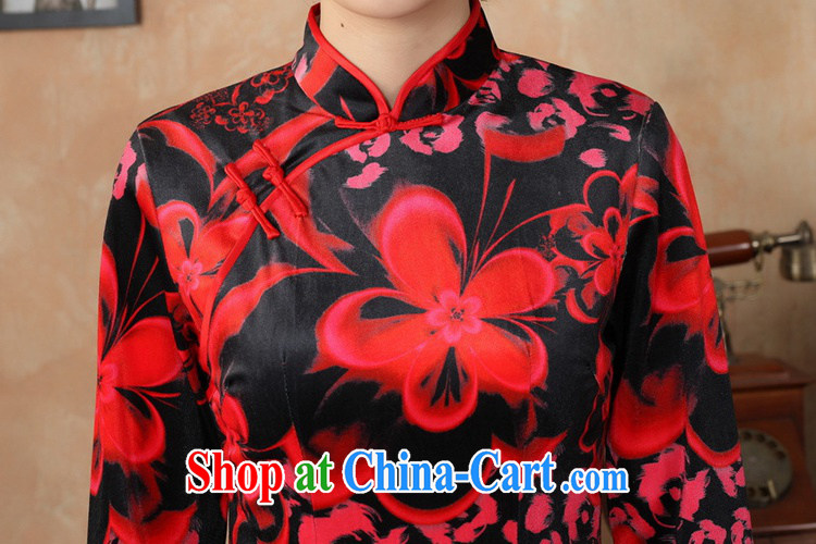 According to fuser stylish new clothes improved Chinese qipao solid-aggressive really scouring pads 7 cuff cheongsam dress LGD/TD 0041 #red 2 XL pictures, price, brand platters! Elections are good character, the national distribution, so why buy now enjoy more preferential! Health
