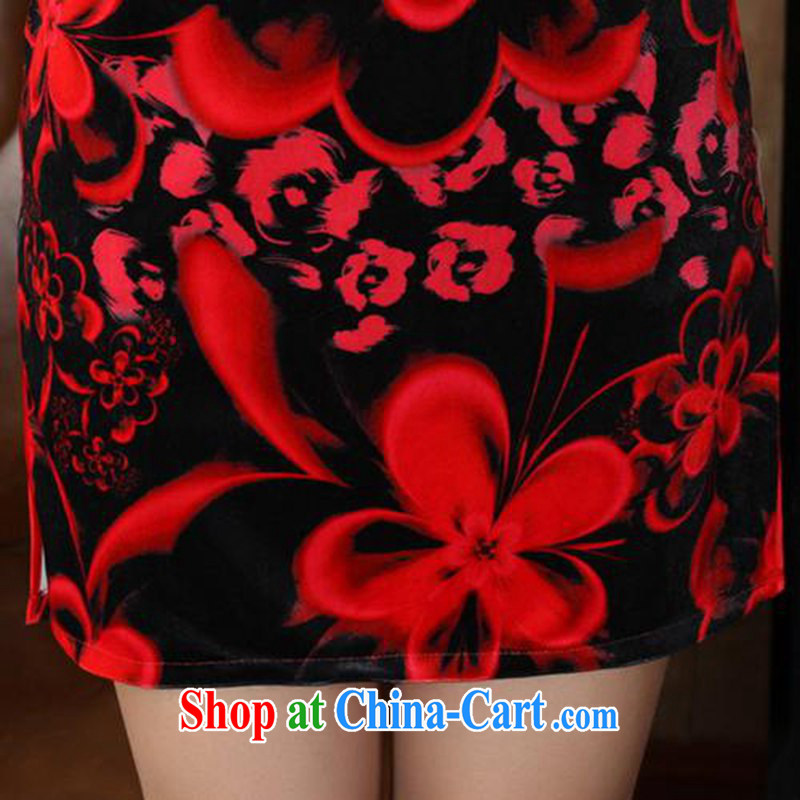 According to fuser stylish new clothes improved Chinese qipao solid-aggressive really scouring pads 7 cuff cheongsam dress LGD/TD 0041 #red 2 XL, fuser, and shopping on the Internet