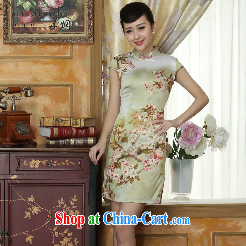 Dan smoke 2015 cheongsam dress summer stylish improved retro beauty everyday dresses dresses, short dresses, such as the color 2 XL