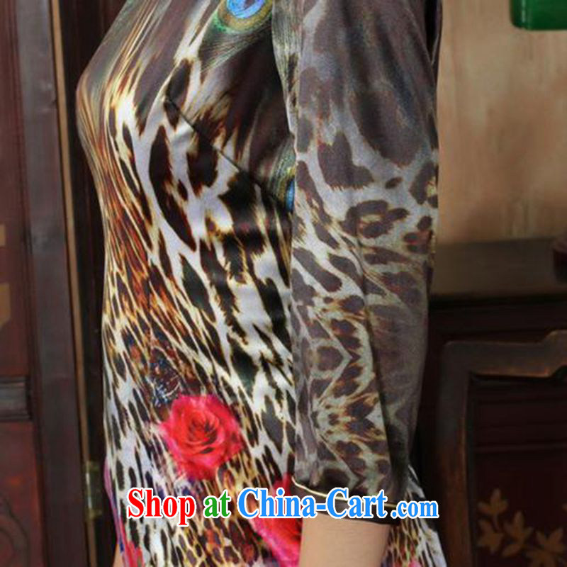 According to fuser and stylish new female Ethnic Wind everyday dresses, velvet poster cultivating 7 cuff cheongsam dress LGD/TD 0037 #3 XL, fuser, and online shopping